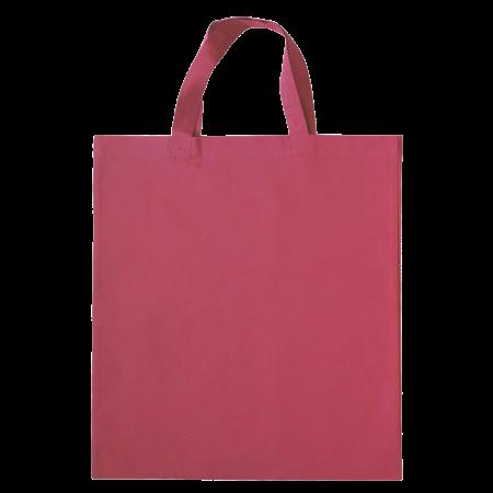 Katoenen draagtas gekleurd met korte hengsels 136 gr/m2