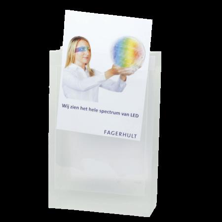 Transparante tas met 2 vensters A4 ONBEDRUKT