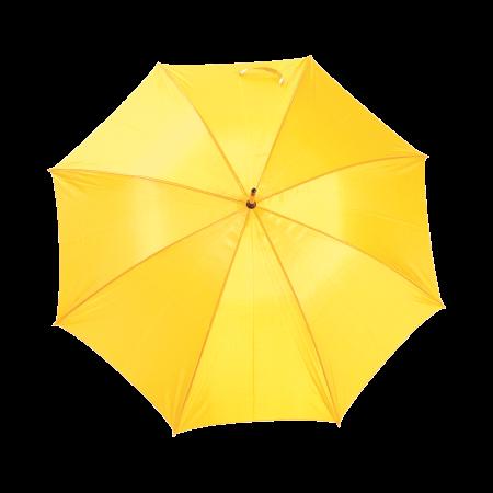 Paraplu met gebogen houten steel en handvat polyester P-190T