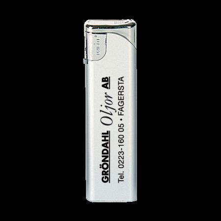Slider elektronische aansteker zilver, navulbaar