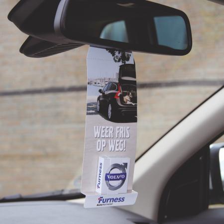 Autospiegelhanger met ca. 30 gr. mints