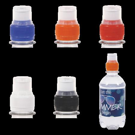 Ronde waterfles 330 ml met sport dop