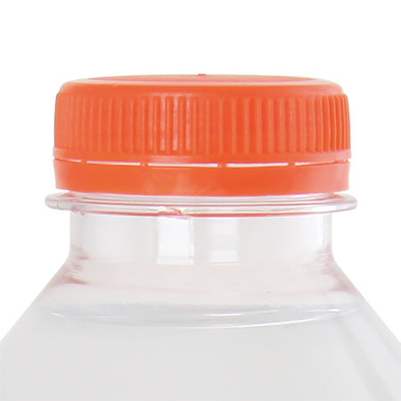 Ronde waterfles 330 ml met platte dopsample