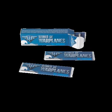 Doosje met 6 Wrigley kauwgomstrips opdruk tot in full colour op de strips en doosje