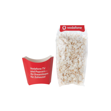 Popcorn 35 gr. in bakje met opdruk tot in full colour
