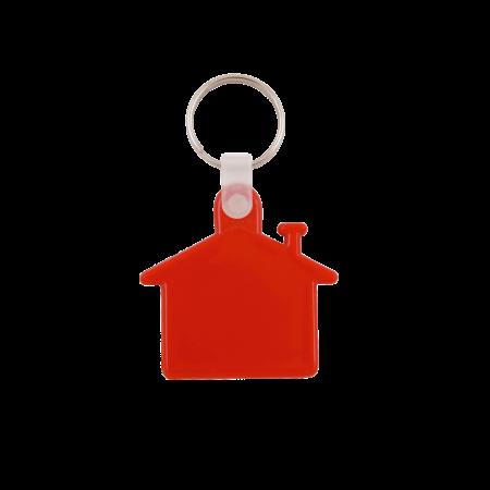 Kunststof sleutelhanger Huis sample