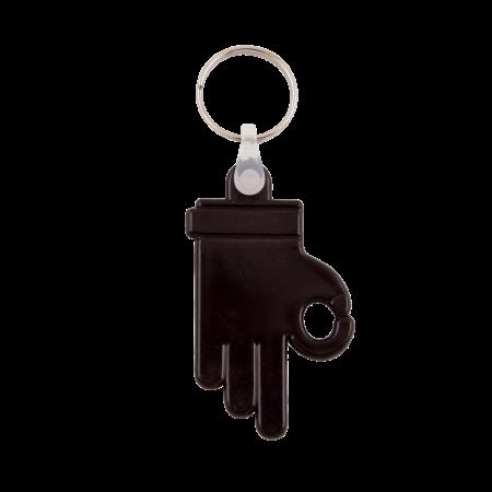 Kunststof sleutelhanger OK Hand sample