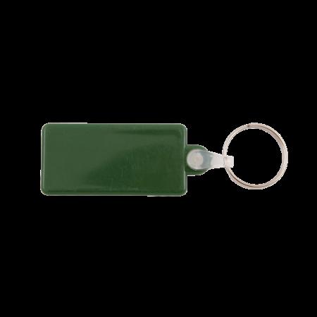 Kunststof sleutelhanger rechthoek sample