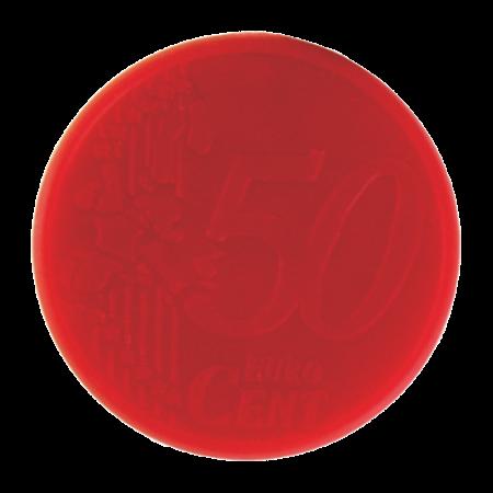 Sleutelhanger winkelwagenmunt met € 0,50 muntjesample