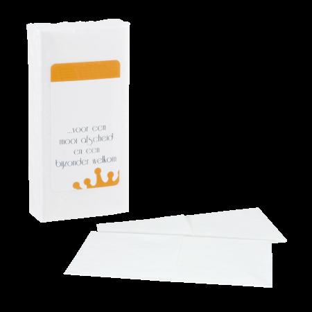 Pakje met 10 papieren zakdoekjes full colour label