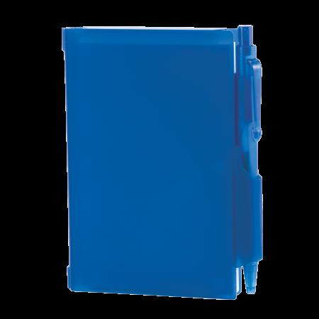 Notitieboekje A7 met pen in hard pvc omslagsample