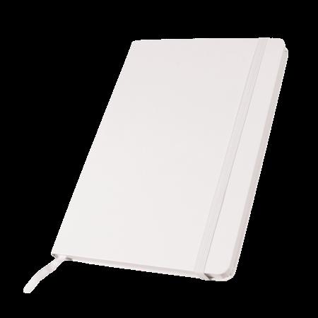 Notitieboek A5 met elastiek, leeslint en opbergvak, 80 pagina`ssample