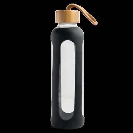 Glazen fles bamboe dop