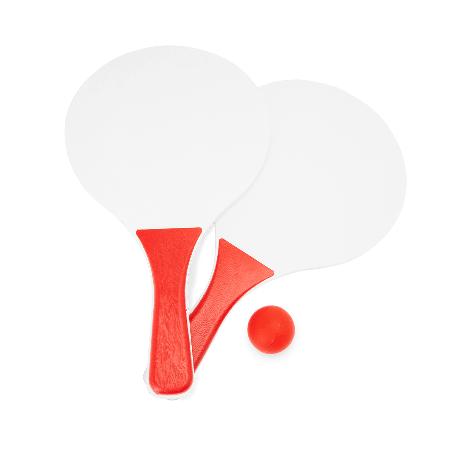 Beach tennisset in netsample