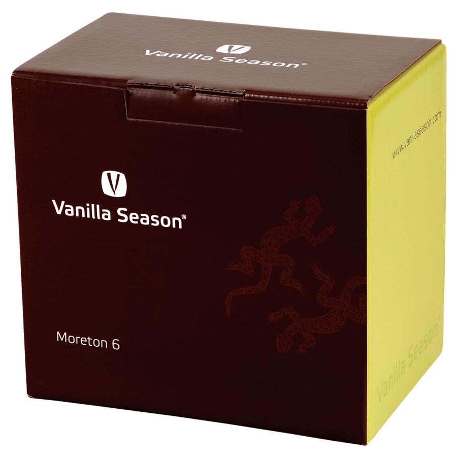 Vanilla Season MORETON set van 6 elegante Bohemia Crystal witte wijnglazen
