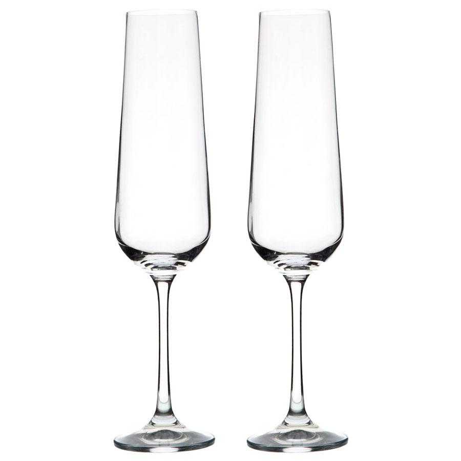 Vanilla Season WANGI geschenkset 2 stijlvolle Bohemia Crystal champange flutes