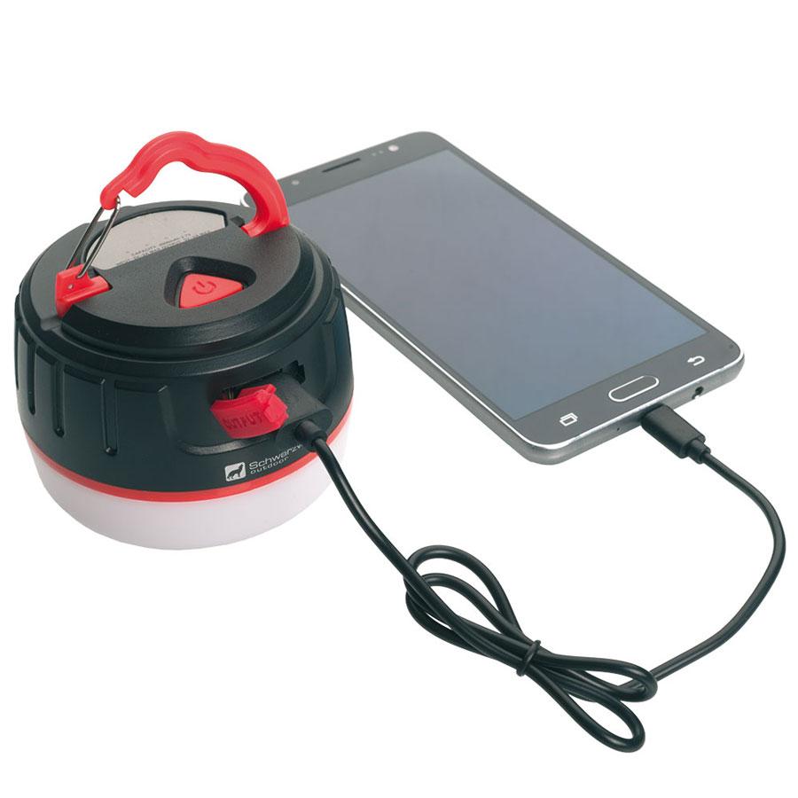 Schwarzwolf KARAKUM oplaadbare camping- of noodlamp
